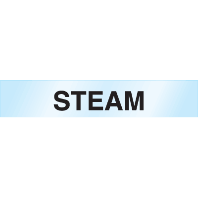 Poly-Code™ Clear Self-Adhesive Pipe Markers - Steam