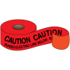 Caution Buried Electric Line Below Non-Detectable Underground Utility Warning Tapes