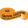 Underground Warning Tape - Caution Buried Cable Line Below