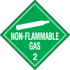 Non-Flammable Gas Hazardous Material Placards