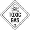 Toxic Gas Hazardous Material Placards
