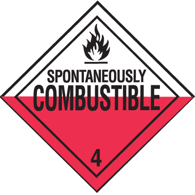Combustible Hazardous Material Placards