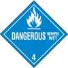 Dangerous When Wet Hazardous Material Placards