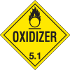DOT Division 5.1 Oxidizer Placards