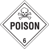 Poison Hazardous Material Placards