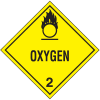 DOT Oxygen Hazard Class 2 Material Shipping Labels