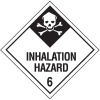 DOT Inhalation Hazard Class 6 Material Shipping Labels