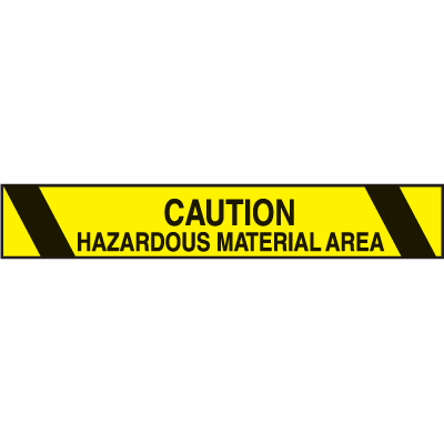 Printed Warning Tapes - Caution Hazardous Material Area