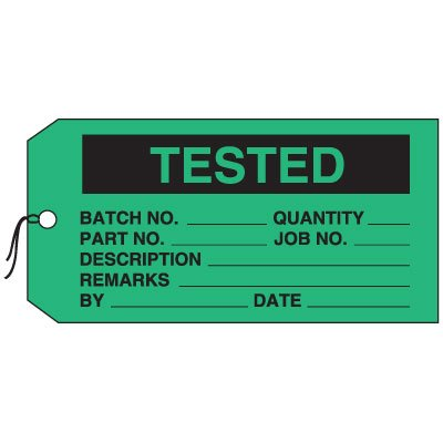 Production Control Tags - Tested