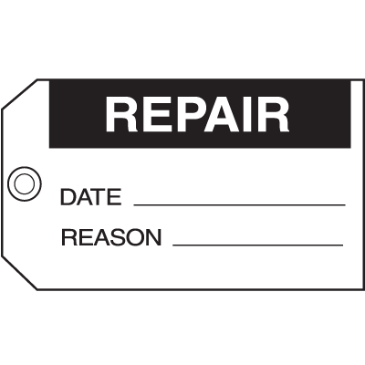 Repair Date Reason Maintenance Tags