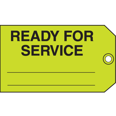 Ready For Service Maintenance Tags