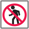Prohibition Signs - No Crossing