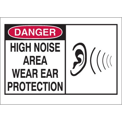Danger Ear Protection Required Sign