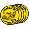 Qualified Pallet Jack Operator Hard Hat Decal