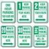 Rapid-Ship Custom Parking Signs - Time Limit Parking