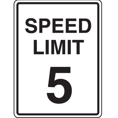 Recycled Plastic Signs - Speed Limit 5