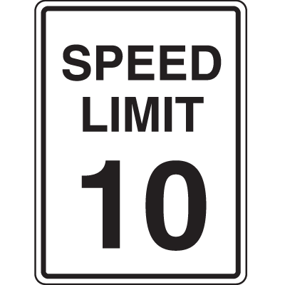 Recycled Plastic Signs - Speed Limit 10
