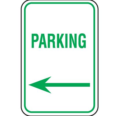 Recycled Plastic Parking Signs - Parking