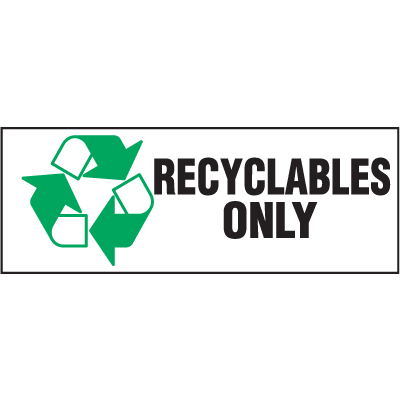 Recycling Labels - Recyclables Only