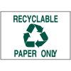 Recycling Signs - Paper Only