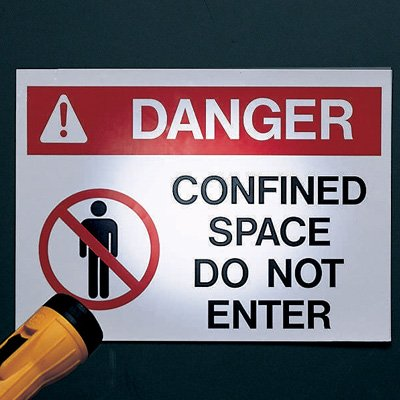 Reflective Confined Space Signs - Danger - Do Not Enter