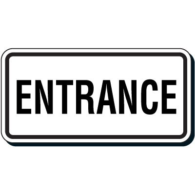 Reflective Parking Lot Signs - Entrance