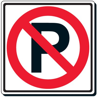 Reflective Traffic Signs - No Parking (Symbol)