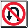 Reflective Traffic Signs - No U-Turn (Symbol)