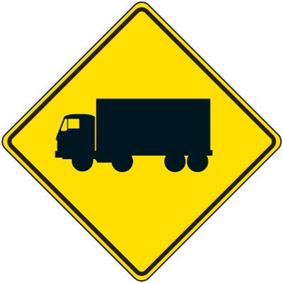 Reflective Warning Signs - Truck Symbol