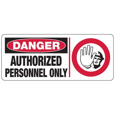 Danger Authorized Personnel (Graphic) - Industrial Restricted Signs