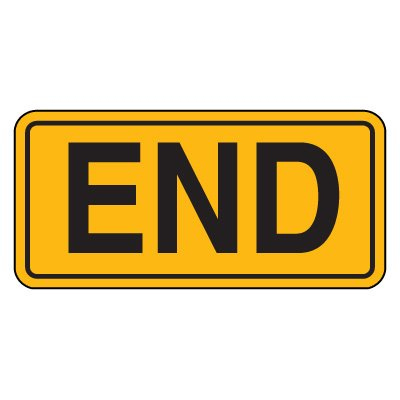 Road Construction Signs - End
