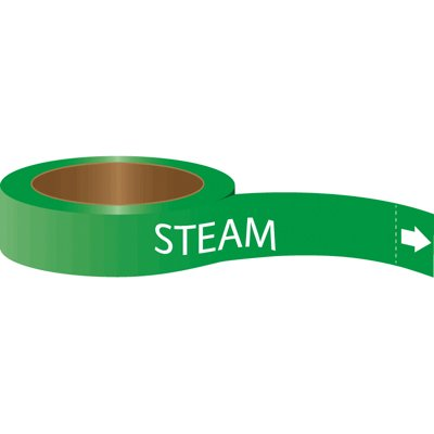 Roll Form Self-Adhesive Pipe Markers - Steam