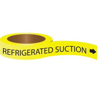 Roll Form Self-Adhesive Pipe Markers - Refrigerated Suction