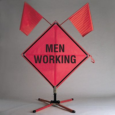 Roll Up Signs - Men Working