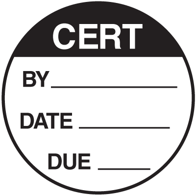 Cert By Date Due Round Labels On A Roll