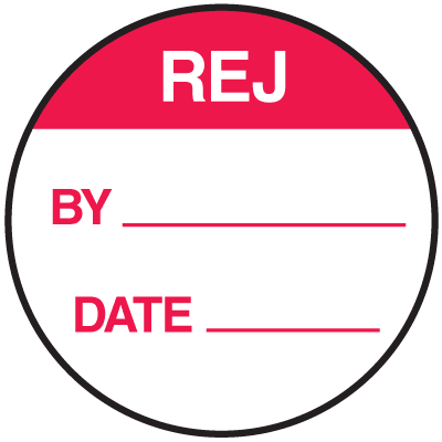 REJ By Date Round Labels On A Roll