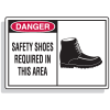 Safety Alert Signs - Danger - Safety Shoes Required