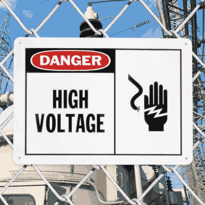 Safety Alert Signs - Danger - High Voltage