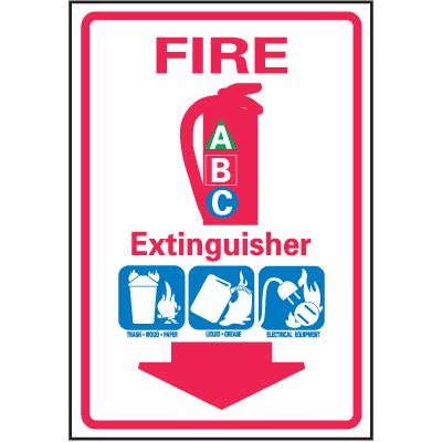 Fire Extinguisher Safety Equipment Location Marker
