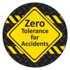 Safety Hard Hat Labels - Zero Tolerance