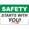 Safety Starts With You Safety Slogan Wallcharts