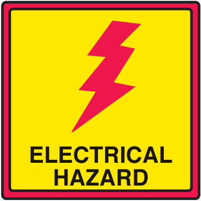 Safety Traffic Cone Signs - Electrical Hazard