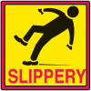 Safety Traffic Cone Signs - Slippery