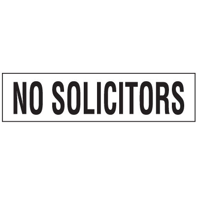 Security & Door Labels- No Solicitors