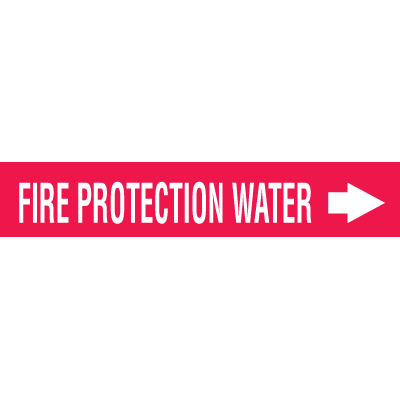 Self-Adhesive Wrap Around Pipe Labels - Fire Protection Water