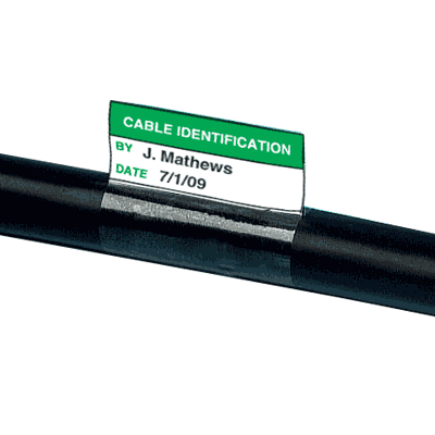 Electrical Safety Write-On Cable Markers - Cable Identification