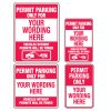 Semi-Custom Permit Parking Only Signs
