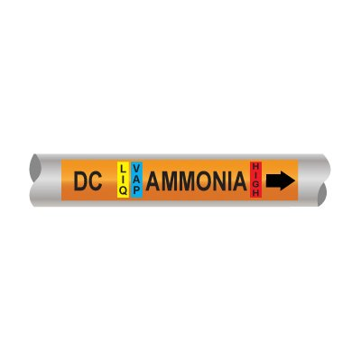 Setmark® Ammonia Pipe Markers - Defrost Condensate