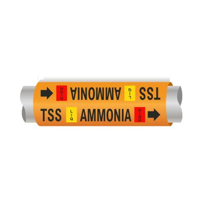 Setmark® Ammonia Pipe Markers - Thermosyphon Supply