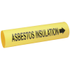 Setmark® Snap-Around Pipe Markers - Asbestos Insulation